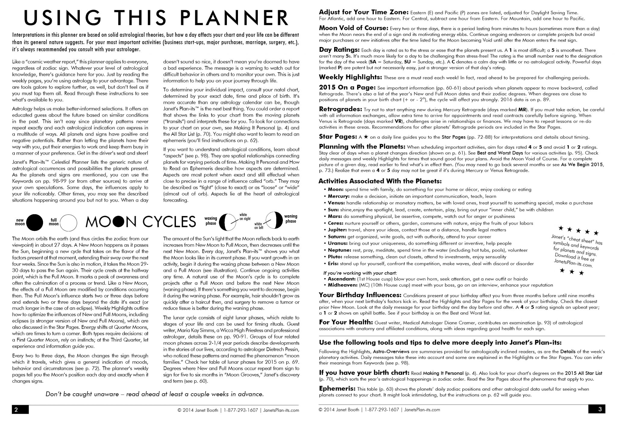 Janets Plan Its Celestial Planner